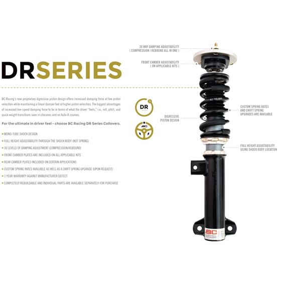 2009-2014 Acura TL DR Series Coilovers (A-75-DR)-2